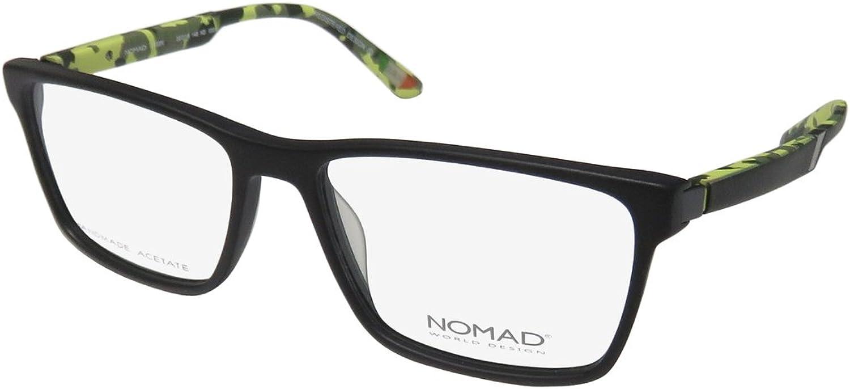 Morel Nomad 2493n Mens Womens Designer Fullrim Spring Hinges Eyeglasses Eyeglass Frame (5516140, Black Lime)