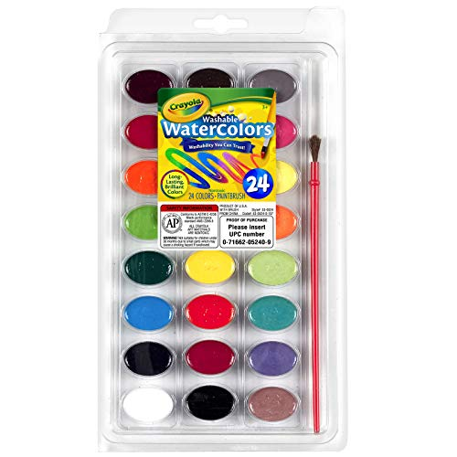 Crayola- Disney Set 24 Acuarela Lavable+Pincel 22x13, Multicolor (Nomaco 53-0524) , color/modelo surtido