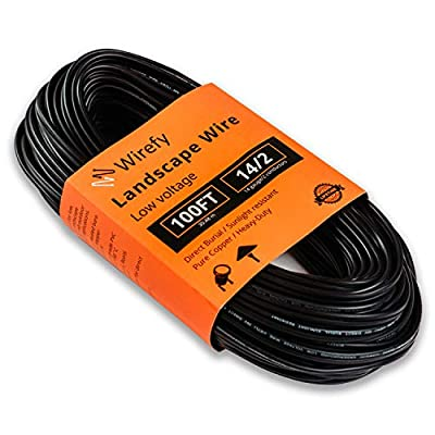 Wirefy 14/2 Low Voltage Landscape Lighting Wire - 14-Gauge 2-Conductor 100 Feet