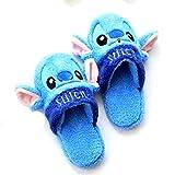 Zapatillas Stitch Plush Slippers Winter Cartoon Blue Warm Zapatos