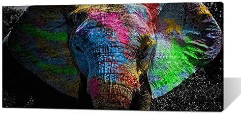 Perfect Wall Decorations Bedroom Graffiti Pop Art Elephant Canvas Paintings on The Wall Posters product image