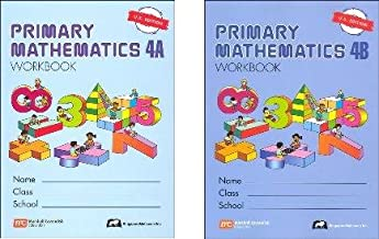 Primary Mathematics Grade 4 WORKBOOK SET--4A and 4B