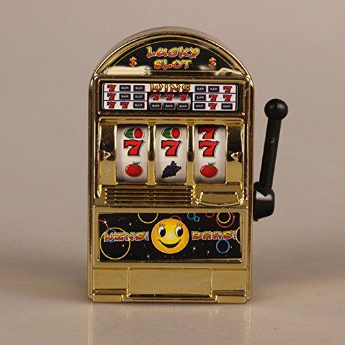 Faironly Kinder Erwachsene Mini Casino Jackpot Slot Maschine Obst lindert Stress, Angst, Langeweile Dekompression Spielzeug Gold