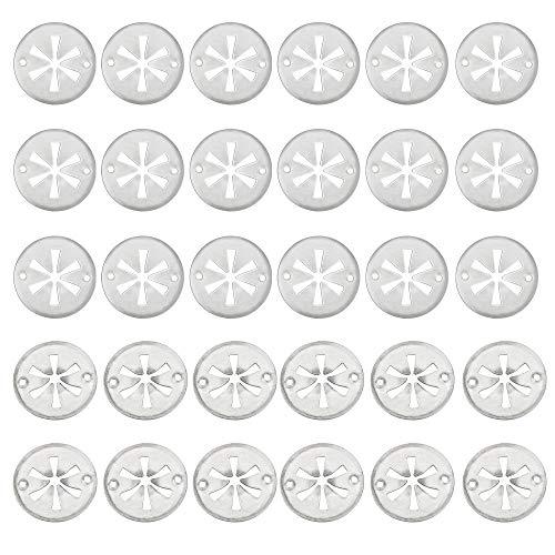 TANCUDER 30 Stück Starlock Sicherungsscheiben Edelstahl Klemmscheiben Hitzeschutzblech 304 Edelstahl Starlock-Unterlegscheiben Hitzeblech Starlock Scheiben für Verschiedene Autos