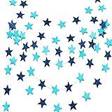 Guirnalda Papel Estrellas Azul de 9 Metros. Decoración Fiesta Bautizo Niño y Cumpleaños