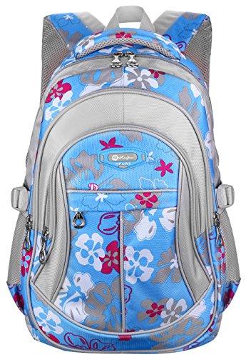 ArcEnCiel Backpack for Girls School Bags Kids Bookbag (Blue)