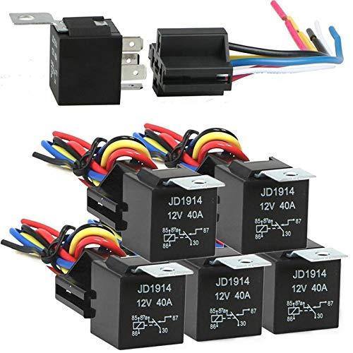 JOMOSIN Qiche31 12V 30/40 AMP 5-Pin SPDT Relés automotrices Relés eléctricos interruptores sin arnés de cableado Automotor