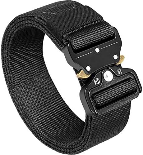 Mens Tactical Belt Black Military Tactical Utility Heavy Duty Belt with Quick Release Metal product image
