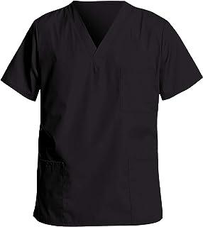 Uniforme Sanitario Hombre Ropa Trabajo Pijama Casaca Cuello en V, Enfermera Estetica Peluqueria Veterinaria Hospital Limpi...