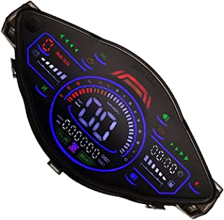 VICASKY Medidor de Motocicleta Velocímetro Digital Velocímetro Da Motocicleta Tacômetro Compatível para Wave100/ 110 Preto