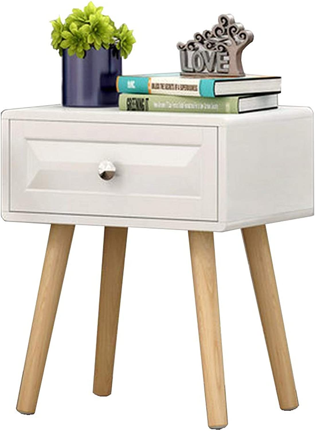 NAN Bedside Table  Nightstand  Display Shelf  End Table -Saving Space, Indoor Storage Furniture (with Drawers) Folding Tables (Size   40  30  48cm)