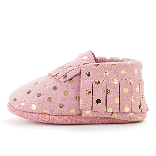 BirdRock Baby Moccasins - 30+ Styles for Boys & Girls! Every Pair Feeds a Child (US 4, Confetti)