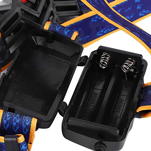 Lámpara de Cabeza, Sensor de Movimiento Brillante al Aire Libre 2 * 18650 Baterías de aleación de Aluminio y ABS Hecho 4101-5 LUZ (Negro)