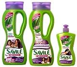 SAVILE Aloe + Keratin Shampoo & Conditioner & Hair Comb Cream Sabila Keratina