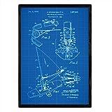 Nacnic Poster Bordo Brevetto Windsurf. Foglio con Il Vecchio Formato A3 Brevetto di Disegn...