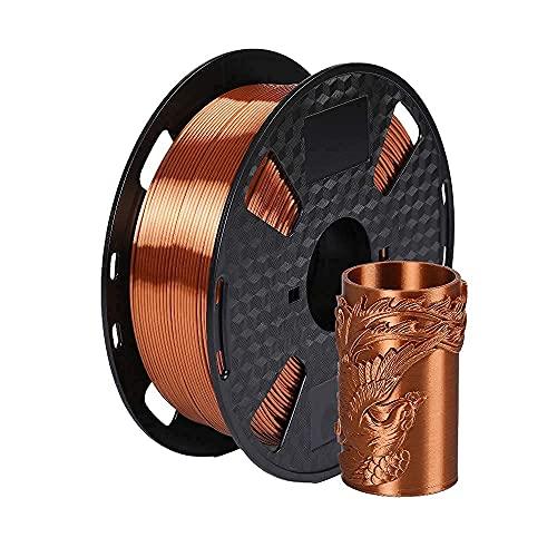 Amazon Brand - Eono Filamento per stampante 3D Eono- Metallo lucido rame seta -1,75 mm- Bobina da 1 kg da 2,2 libbre,Ha un aspetto metallizzato