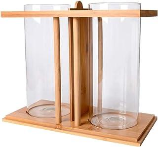 FLAMEER Pecera de Cristal Transparente para Peces Florero para Flores y Plantas Creativo Diseño 2 Comportamientos