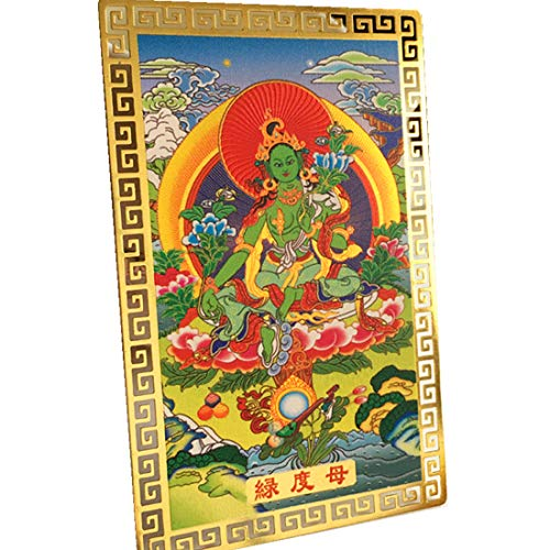 Yechen Feng Shui Green Tara Buddhist Goddess Talisman Card for Protection TC11