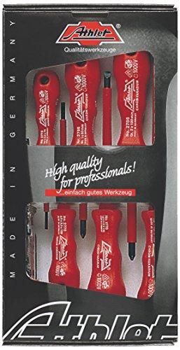 ATHLET-Qualitätswerkzeuge 540 1 VDE-Schraubendreher-Sortiment mit LochheftSchlitz/PH Sortierung, 7-TLG