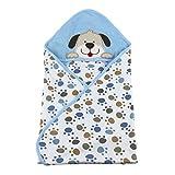 Vine Sommer Baby Decke Kuscheldecke Baumwolle Stickerei Stickerei Haube Neugeborene Wearable Decke Baby Schlafsack Baby Badetuch Kapuze,75 * 75CM-Hunde