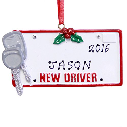 Rudolph and Me Personalized New Driver License Christmas Ornament 2020