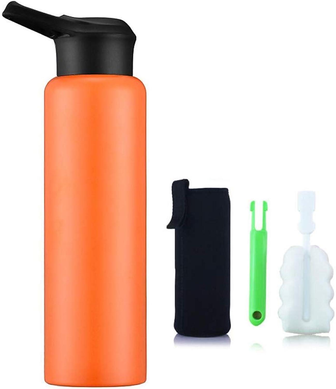 TLTLBWH Tasse, Thermos En Acier Inoxydable 304 De Grande Capacité Pour Sports De Plein Air, MultiCouleure (Couleur   Orange)
