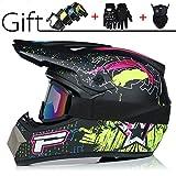 Leichter Motocross Helm Integralhelm Helm Adult Off Road Helm Mit Handschuhe Maske Brille