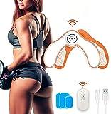 ROOTOK Electrostimulateur Musculaire Fessier,Alteres Musculation Femme,Slendertone Fessier,Chargement USB,Télécommande,EMS Hanches Trainer,Intelligent Portable Fesses
