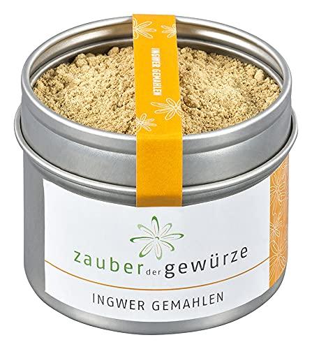 Zauber der Gewürze Ingwer gemahlen in Premium-Qualität - Asiatische Gewürz-Spezialität - Ginger aus Ingwer-Wurzel, getrockne als Pulver, 40 g