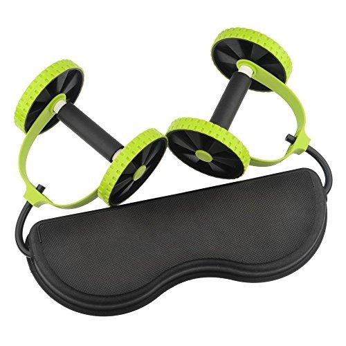 Podazz Sport Core Double AB Roller Attrezzatura per Esercizi Professionale, Supporto per Addominali, attrezzo per Allenamento Addominale, Ideale per Uomini e Donne, per Palestra a casa o in Palestra