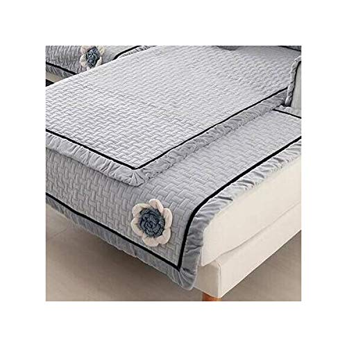 HGblossom Plüsch Sofabezüge Sofa Handtuch Couch Kissenbezug Europäischen Ledersofa Schutzpolster Für Wohnzimmer D 45X45 cm Kissenbezug