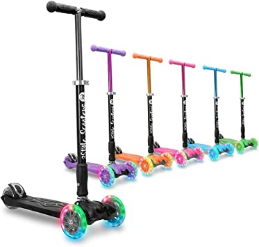 3StyleScooters® RGS-2 Patinete de 3 Ruedas para Niños Niños de 5 Años o Más con Luces LED en Las Ruedas, Diseño Plegable, Manillar Ajustable, Peso ...