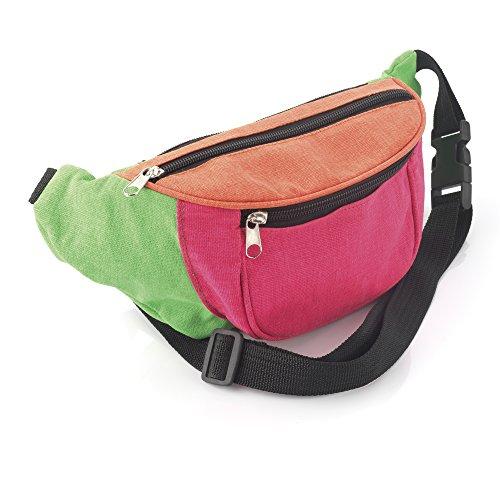 Neon Fabric Bum Bag / Waist Pack