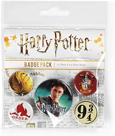 Pyramid International Harry Potter PinSBadge Gryffondor BP80486 1 x 38 mm 4 x 25 mm Multicolore