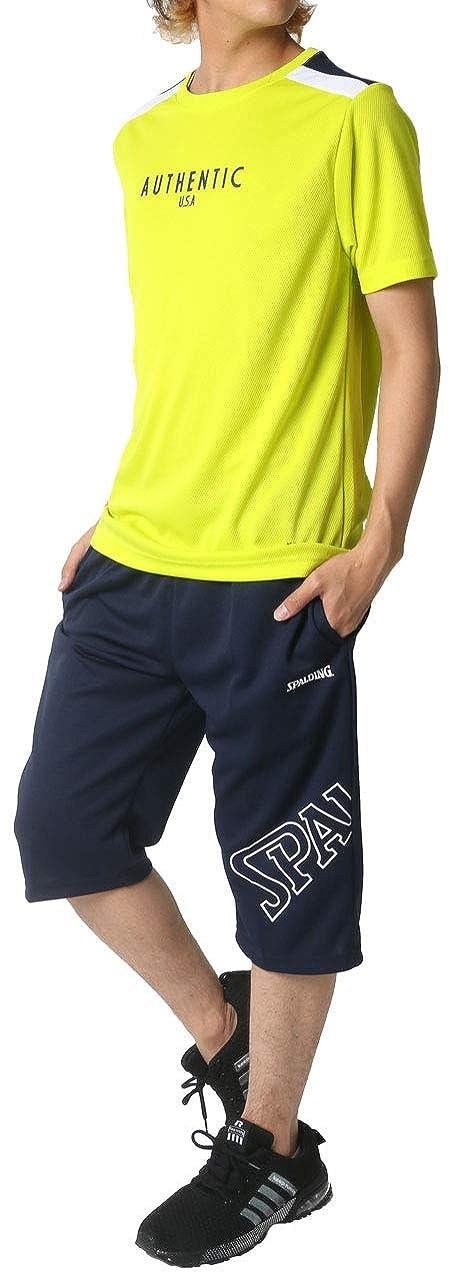 とまり木口実サドル[スポルディング] ランニングウェア 上下セット ドライ Tシャツ ジャージ ボトム ショートパンツ メンズ