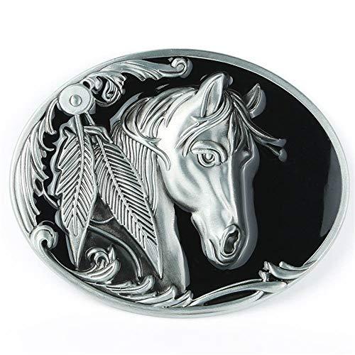 Patrón de hierba Tang mirando hacia atrás a la cabeza de caballo