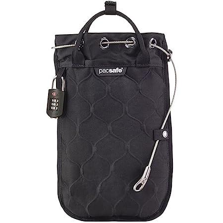 Pacsafe Travelsafe 3L GII - Mobiler Safe mit TSA-Zahlen Schloß, Trage-Tasche mit Anti-Diebstahl Technologie, 3 Liter Volumen, Schwarz/Black