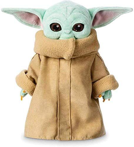 YUEFF Baby Yoda Stofftier,Plüschtiere Weiche Stoffpuppen 30 cm,The mandalorien Gefüllte Puppe Baby Yoda Spielzeuge Für Kinder
