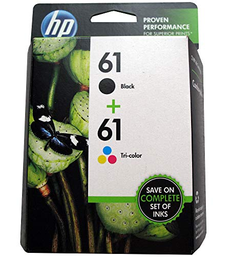 HP #61 OEM Black / Tricolor Inkjet Cartridge Combo Pack, Part # CR259FN