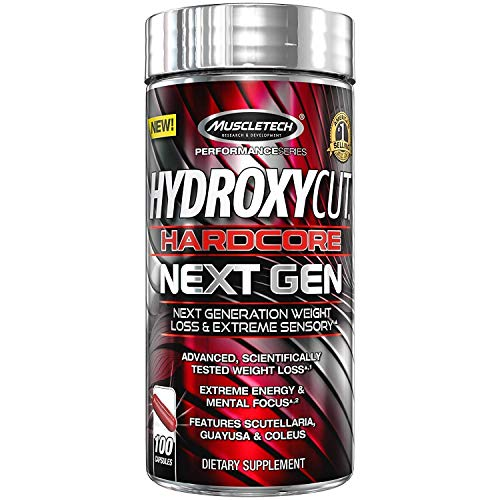 Muscletech Performance Series Hydroxycut Hardcore Next Gen (Coleus 100mg, Guayusa 20mg) - 100...