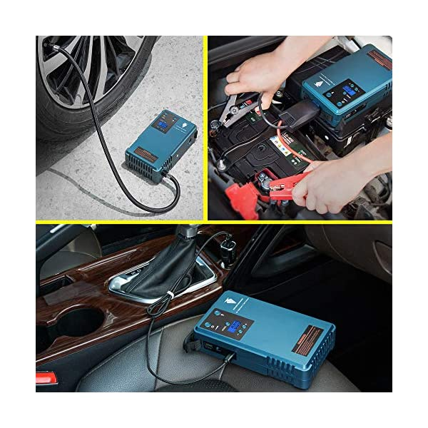 Arrancador de coches, compresor aire coche, bateria coche,Jump starter , energía neumático manómetro digital móvil,con…