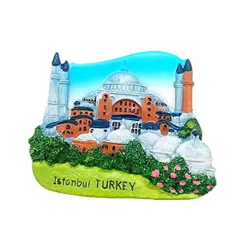 Imán de nevera 3D con diseño de Turquía de Estambul para decoración del hogar y la cocina