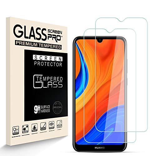 HJX Protector de Pantalla para Huawei Y6S [2-Pack], Vidrio Templado de 9H Dureza, 2.5D Alta Definicion Sin Burbujas, Alta Sensibilidad, Huawei Y6S Protector de Pantalla