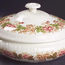 Wildbriar Brown Pink Round Covered Vegetable by Wedgwood | Replacements, Ltd.