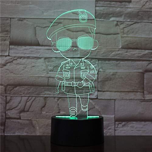 Nur 1 Stück Cool Girl Led Nachtlampe Nachkommen der Sonne Do Min Joon Nachtlicht für Kinder Schlafzimmer Korean Soldier Led Nachtlicht für Kinder