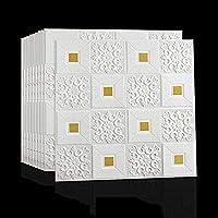 自己接着3Dフォームウォールステッカー壁紙防音デコレーションハウス天井壁紙(10個) A++ (Color : C)
