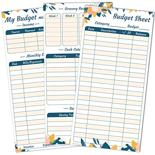 Saveyon Set of 70 Expense Tracker Budget Sheets for Cash Envelopes and 12 Monthly Budget Tracker Sheets - Made for Cash Envelopes for Budgeting, Budget Envelopes, Cash Envelope Wallet, Budget Planner