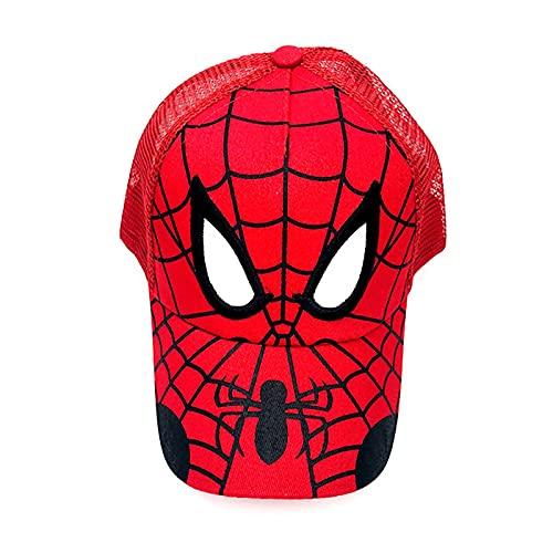 PRETAY Avengers Spider-Man Sommer Baseball Cap Marvel Jungen Trucker Cap Captain America Comic Superhelden Kinder Sonnenhut Jungen Mädchen Kappen Snapback Hut (Color : Red, Size : M(52~54CM))