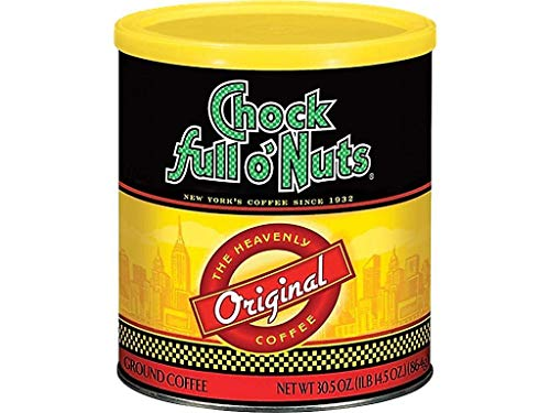 PACK OF 6 - Chock full oNuts Original Ground Coffee 30.5 oz Can