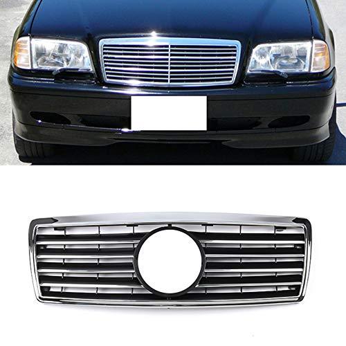 BNHKM Frontgitter, Frontdiamantgitter Geeignet Für Mercedes-Benz W202 C-KLASSE Sportgitter 1993-2001 C220 C280 C36